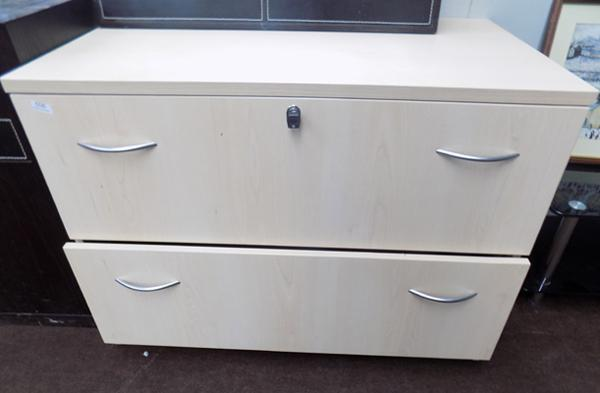 Large two drawer lockable drawers for files