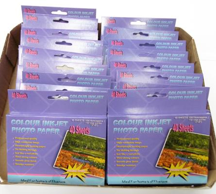 Twenty packs of colour Inkjet photo paper