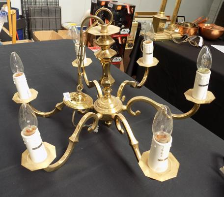 Six drop candelabra