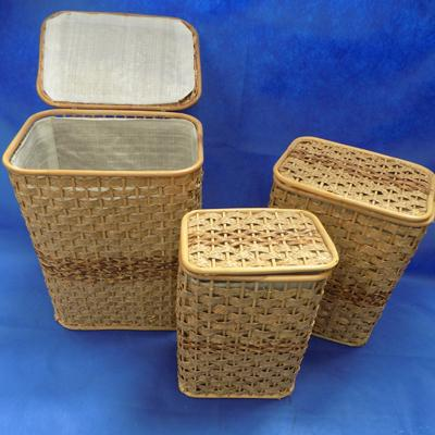 Set of 3 launderette baskets