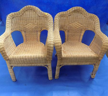 2x Ratton wicker chairs