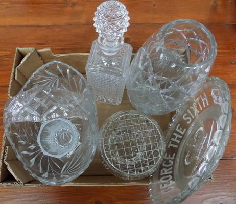 Selection of crystal glass