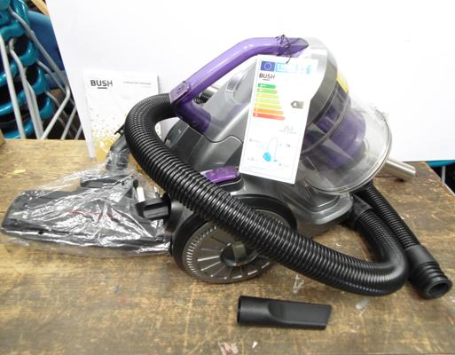 Bush vacuum cleaner - W/O, (auto cord re-winder stuck but works fine)