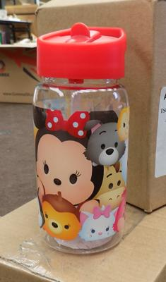 12 Tsum Tsum plastic drink bottles - retail £6.99 each