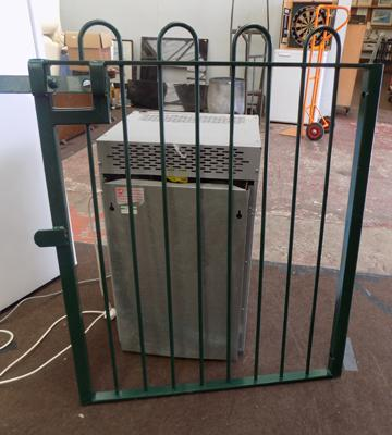 Large metal garden gate