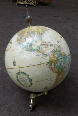 Decorative globe, requires plinth