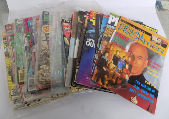 Selection of Star Trek & XMen magazines