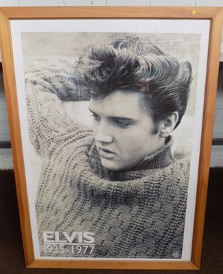 "Framed picture young Elvis 30"" x 42"""