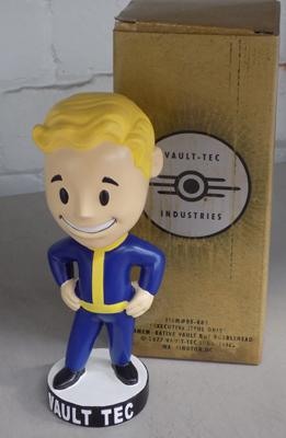 Fallout 4 Vault Tech Pip Boy Bobble Head figure, with box, in good condition, approx. 7""