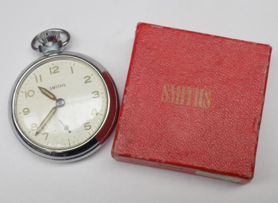 Vintage Smith's pocket watch in original box - ticking
