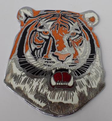 Vintage style tiger bus mascot