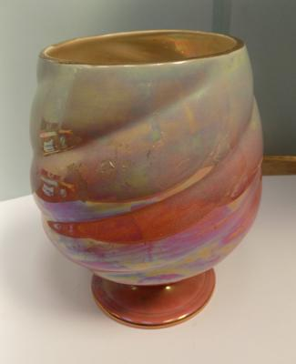 "Royal Winton glazed vase - no damage found, approx. 9"" high"