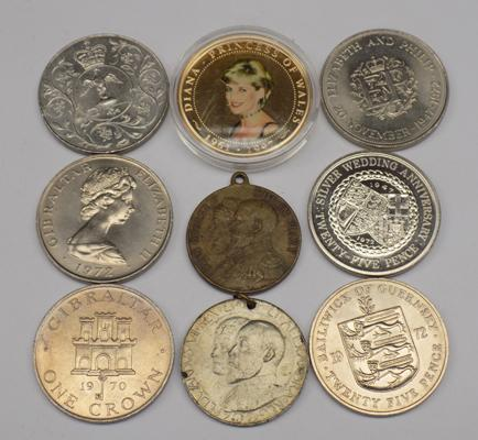 Selection of coins, incl. Coronation