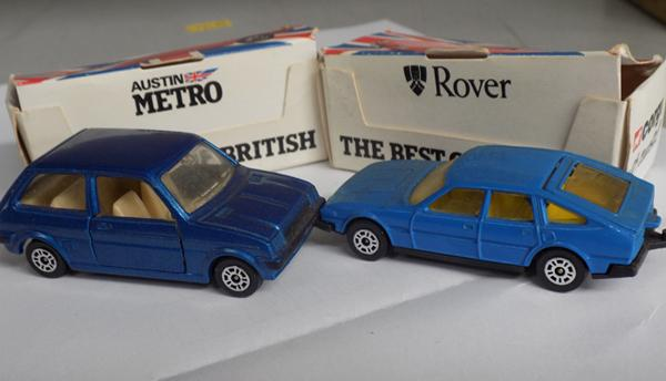 Corgi best of British Rover 3500 & Corgi Best of British Austin Metro - both in good condition