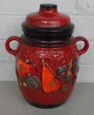 Vintage 1970's Rumtopf  German jar