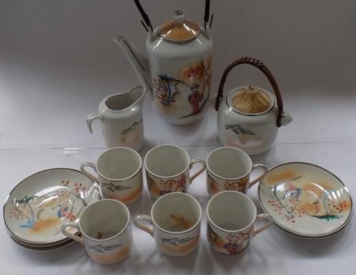 Vintage oriental coffee set