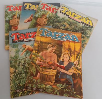 Selection of six vintage Tarzan comics