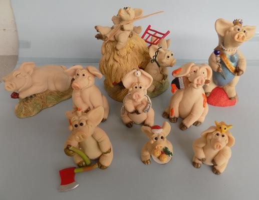 Collection of Piggin ornaments