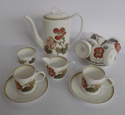Susie Cooper/ Wedgewood Nasturtium China coffee set