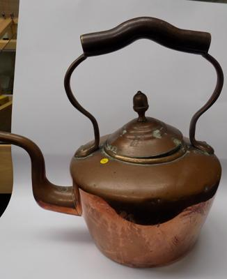 Large copper plate kettle