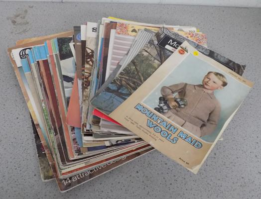 Vintage job lot of knitting patterns