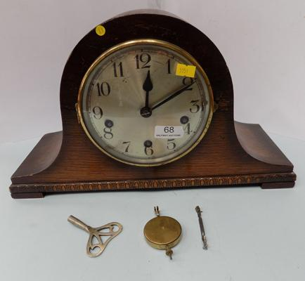 German mantle clock with key