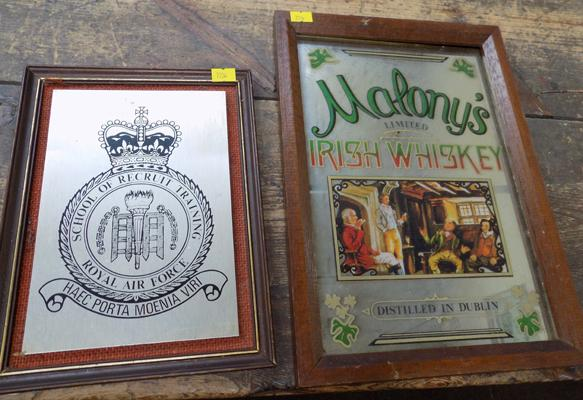 Mahony's advertising mirror + RAF plaque