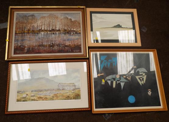 Alfred Common oil painting & others