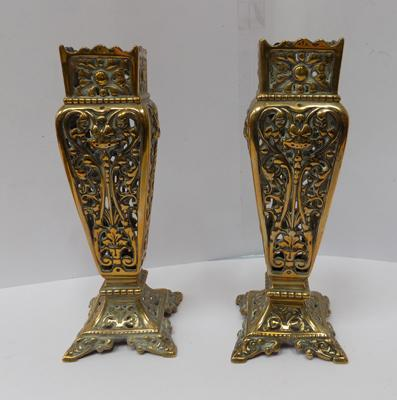 Pair of vintage brass candlesticks