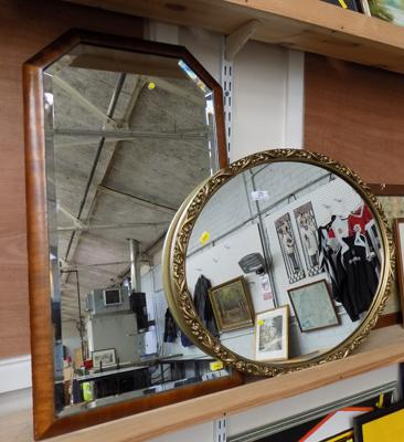 Art Deco mirror + 1950's gilt mirror