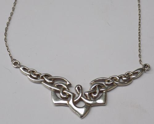 Silver necklace - approx. 16""