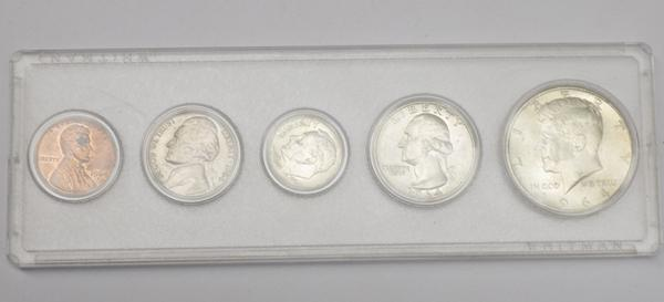 1964 Kennedy mint set coins