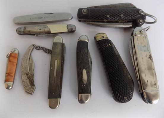 Collection of 9 vintage  penknives