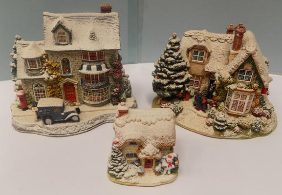 Three Christmas Lilliput Lanes - 'First Snoel', 'Christmas Cake' & 'The First Noel'