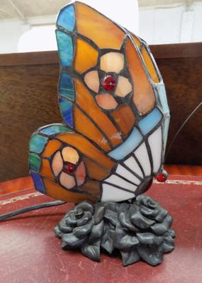Tiffany style butterfly lamp