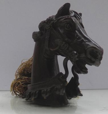 Small bronze horse head, approx 2.5""