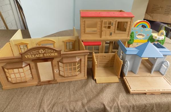 Box of Sylvanian houses