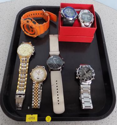 Tray of watches - 2 boxed new
