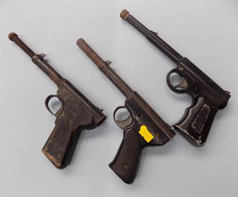 Three vintage Gat guns - spares & repairs