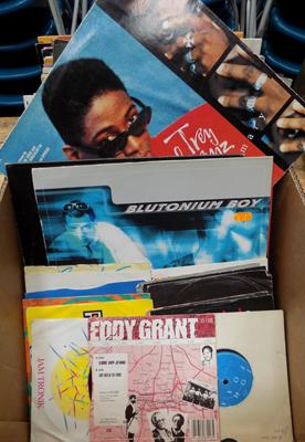 Box of records & singles
