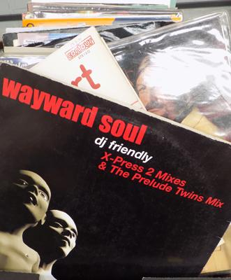 "Box of mixed LPs & 12"" - incl. James Last, Wayward, Soul etc..."