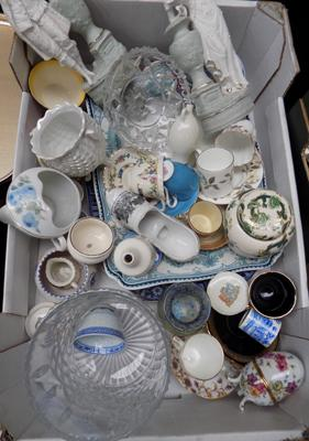 Large box of mixed ceramics
