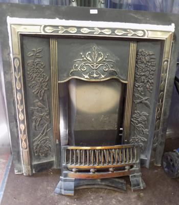 Art Deco fire surround with back burner & accessories