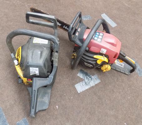 Two chainsaws for parts
