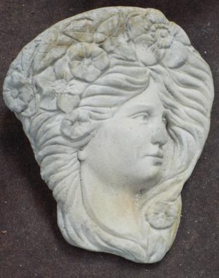Stone Lady's face - wall mounted plaque