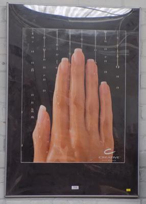 Large nail design advertising picture