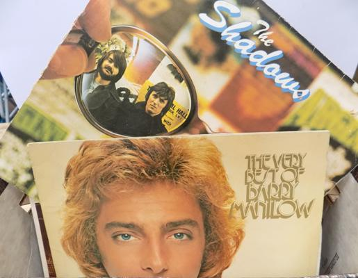 "Box of LPs & 12"", incl Barry Manilow & the Shadows"