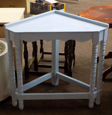 Blue corner table