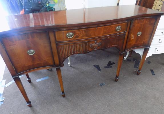 Inlaid 6 leg sideboard