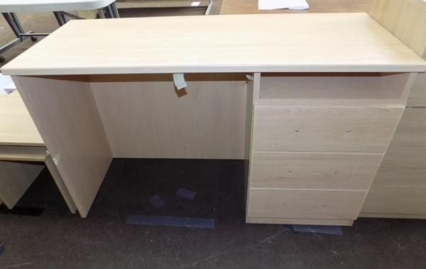 Brand new dressing table, light oak with three drawers